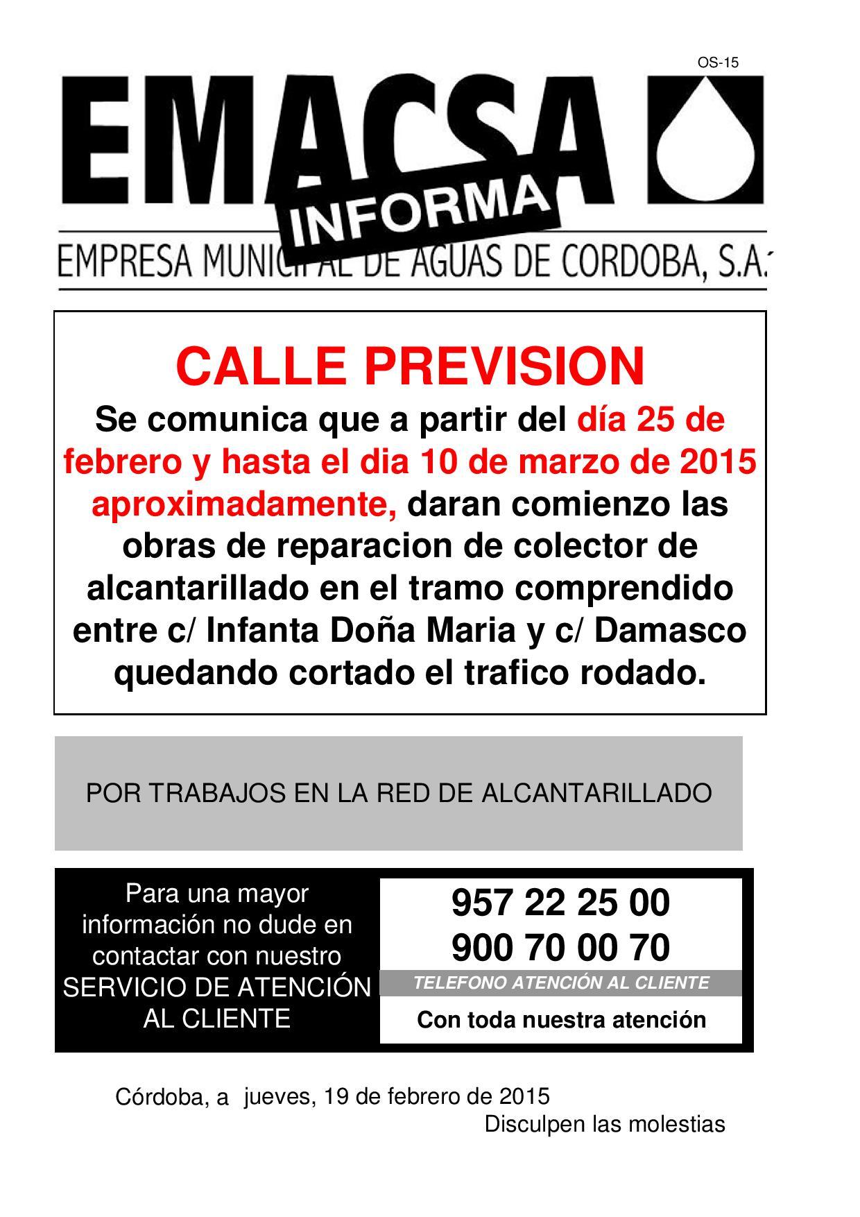CALLE PREVISION