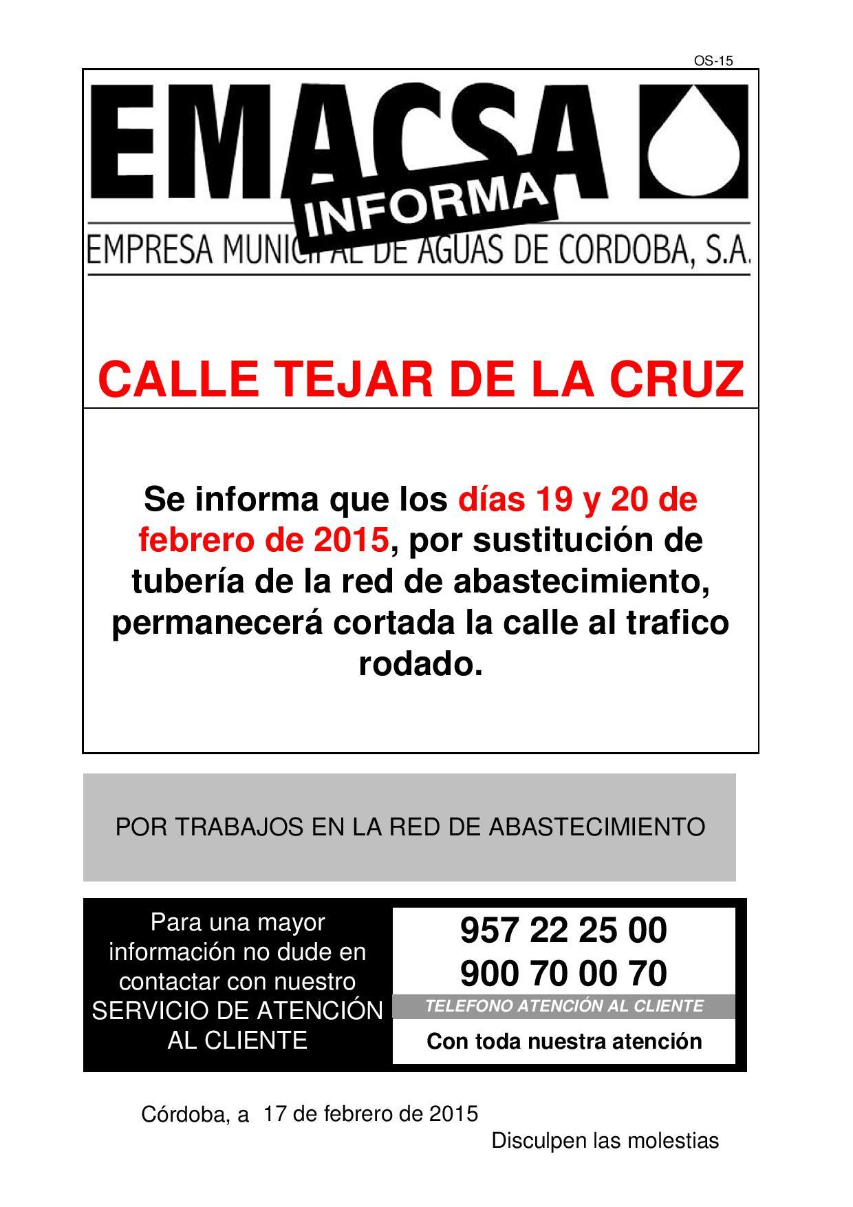 CALLE TEJAR DE LA CRUZ