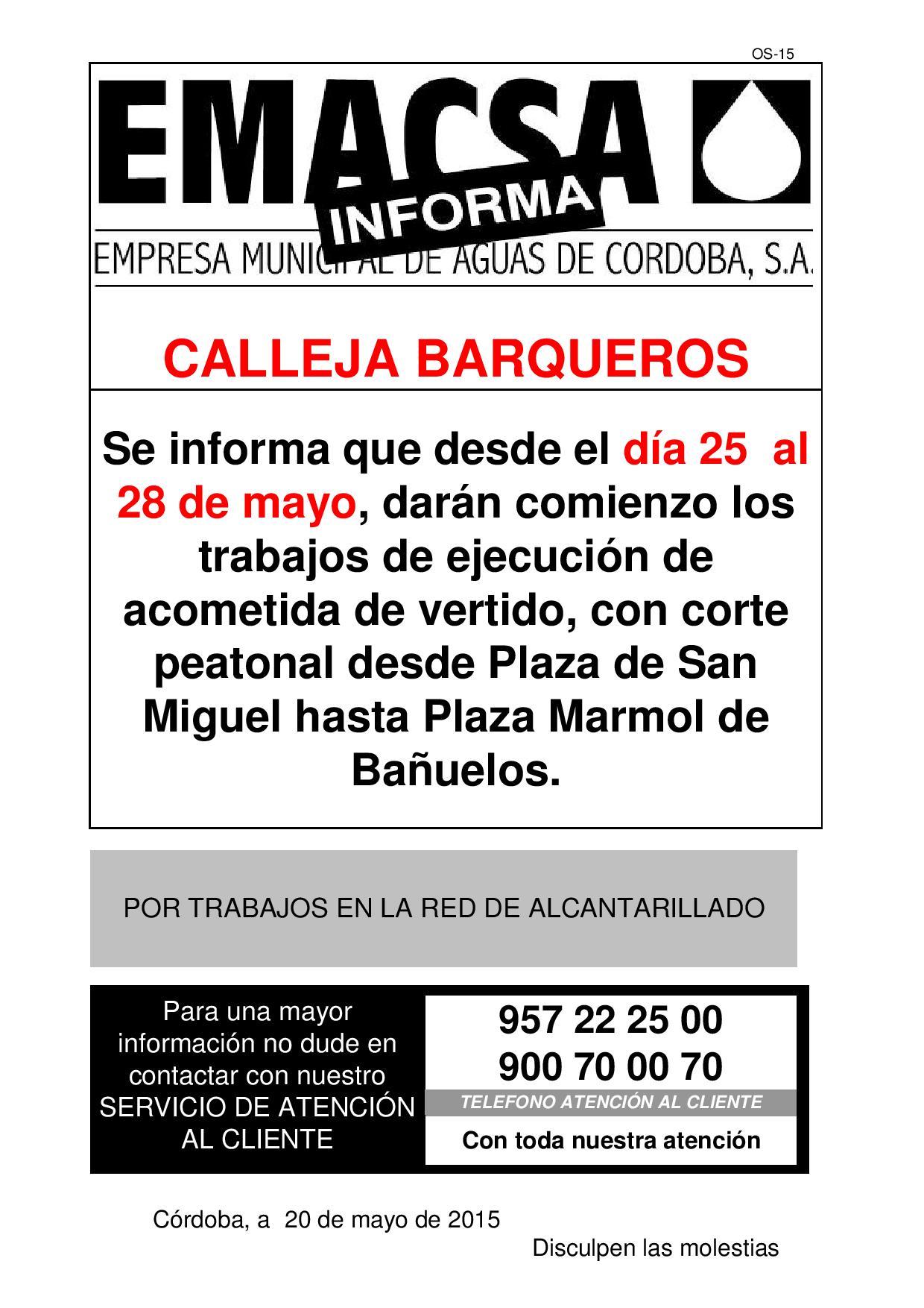 Calleja Barqueros (25-28 mayo)