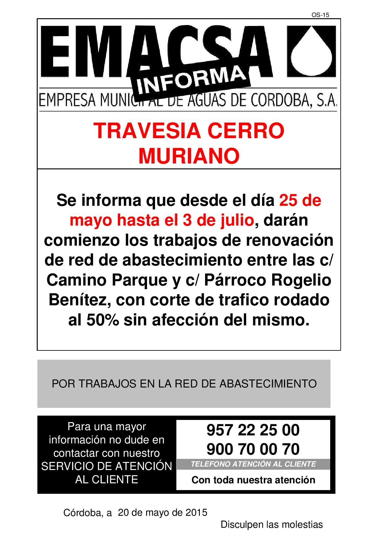 Travesia cerro muriano (25 mayo a 3 julio)