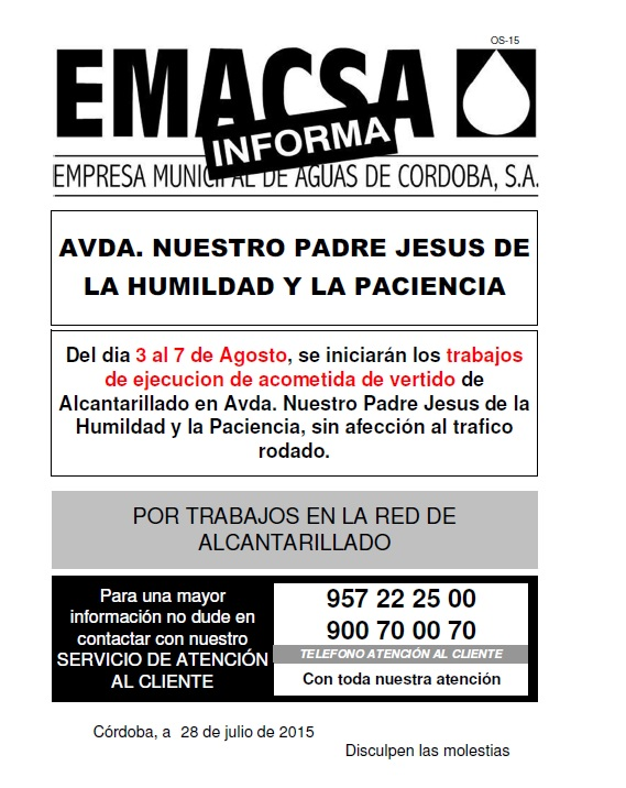 AVDA. NUESTRO PADRE JESUS DE LA HUMILDAD