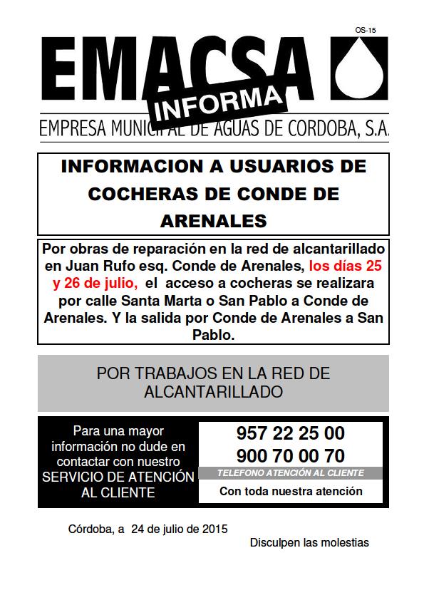 Conde de Arenales - Acceso a cocheras