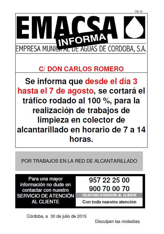 DON CARLOS ROMERO (3-7 AGO) AL
