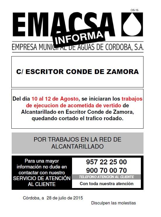 ESCRITOR CONDE DE ZAMORA