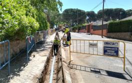 Emacsa comienza la primera fase de las  obras de renovación de la red de  abastecimiento en Cerro Muriano