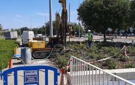 Emacsa realiza los estudios geotécnicos para la redacción del proyecto del tanque de tormentas del Balcón del Guadalquivir