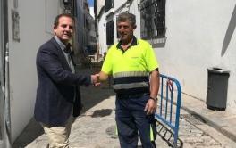 Finalizan las obras en la Puerta de Almodóvar y continúan por la calle Tejón y Marín