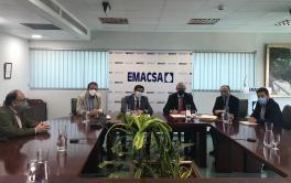 Emacsa firma un convenio de colaboración con la Unidad de Actuación 'Huerta de Santa Isabel Oeste' para la ampliación de infraestructuras