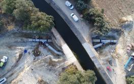 Finalizan las obras de reparación de una de las conducciones que abastecen a la ciudad